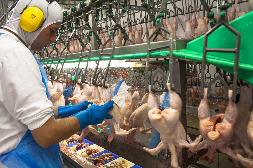 A poultry processing plant in Brazil.