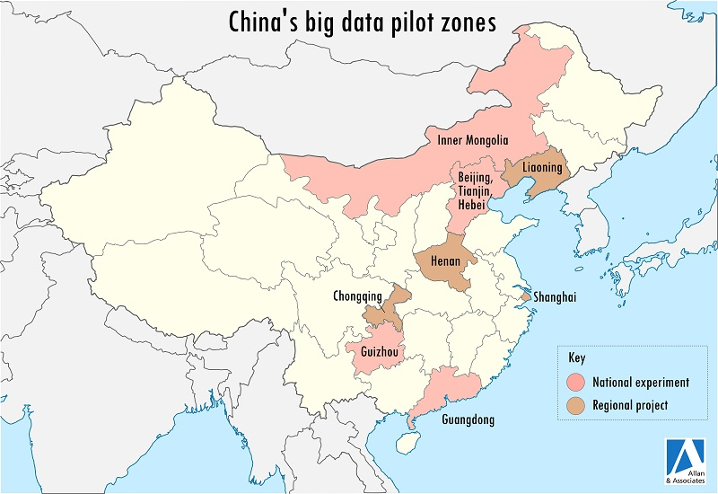 map of pilot zones in china