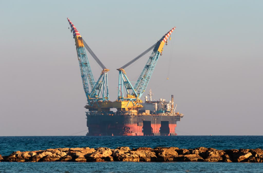 Oil Rig Ship Ocean