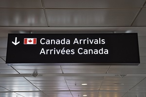 Canada airport arrival